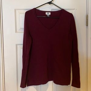 Old navy wine check sweater